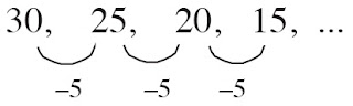 barisan aritmatika beda suku -5