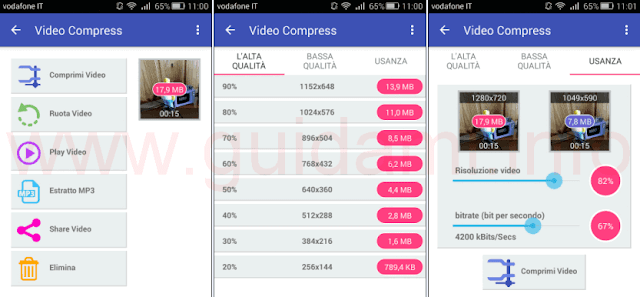 App Video Compress per Android