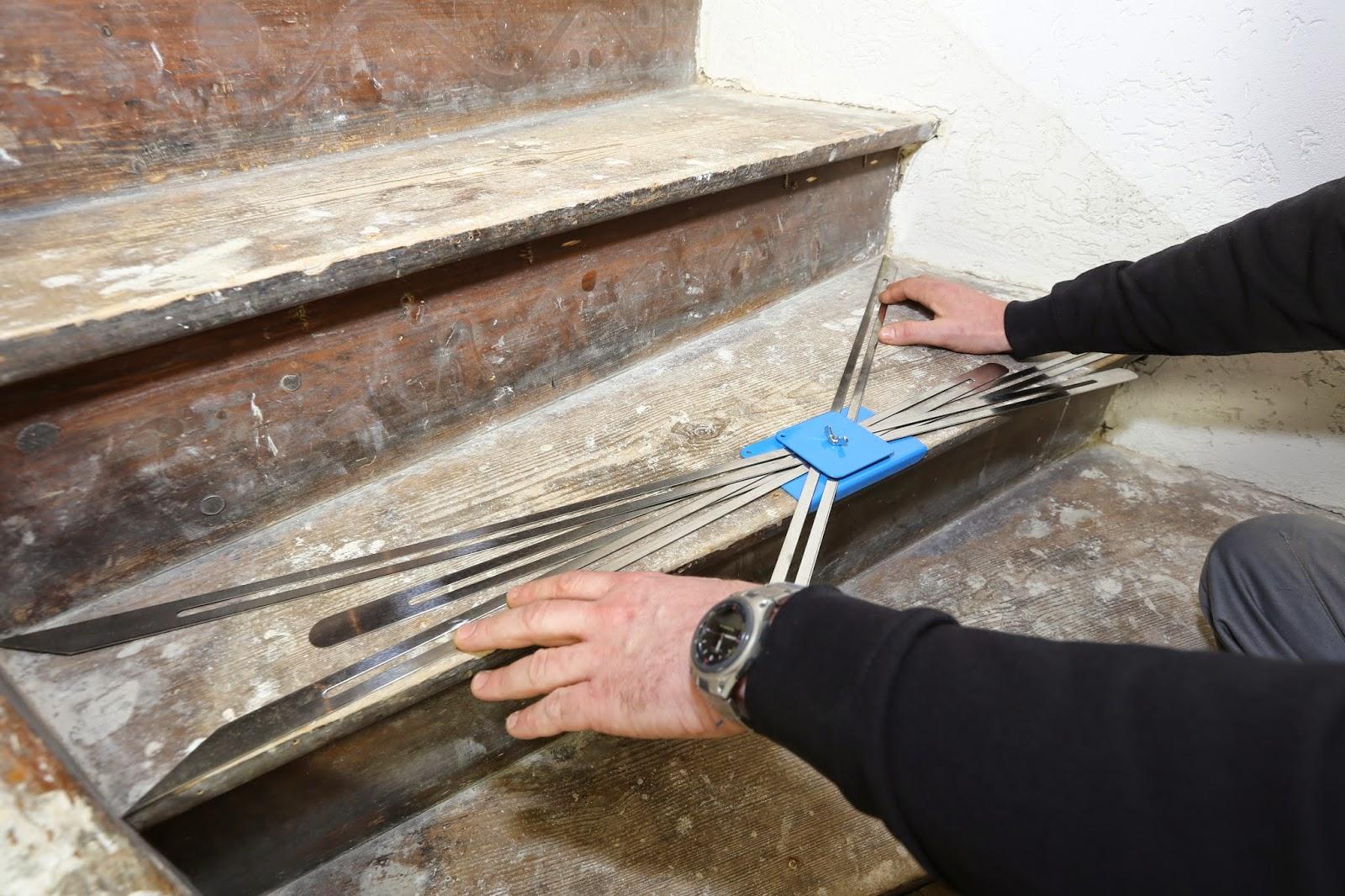 Treppenrenovierung - Ausmessen der Stufen