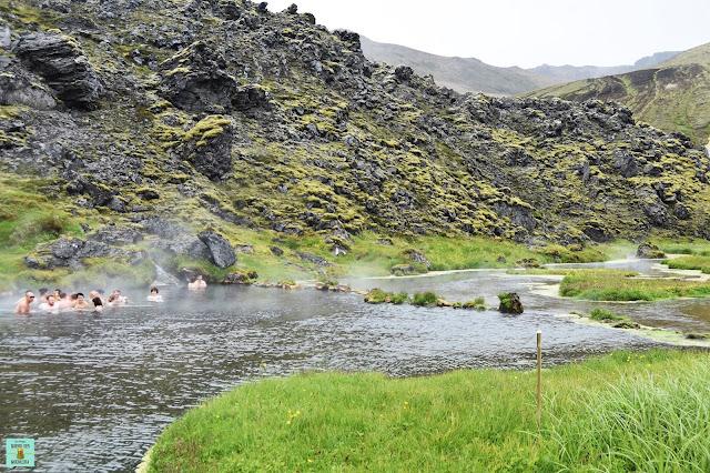 Aguas termales en Landmannalaugar, Islandia