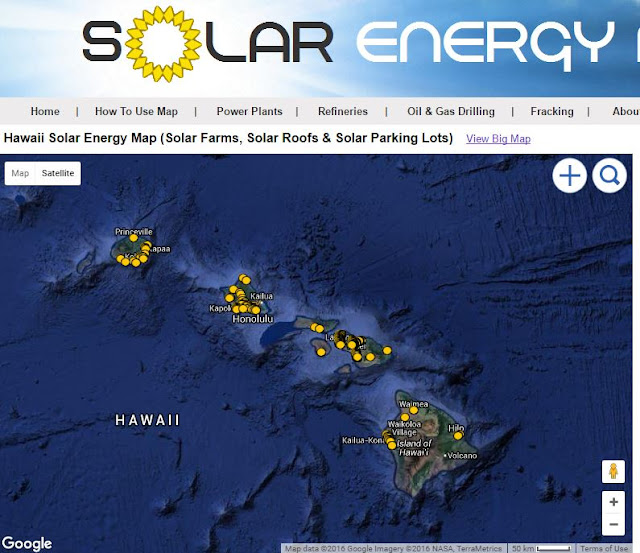 Map of Hawaii Solar Locations in Kauai, Oahu, Molokai, Maui & Big Island Hawaii