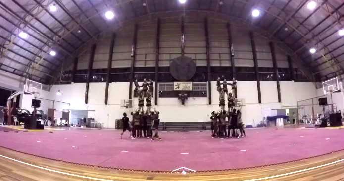 "UP Pep Squad performs ""Thank U.Po"" routine for fans"