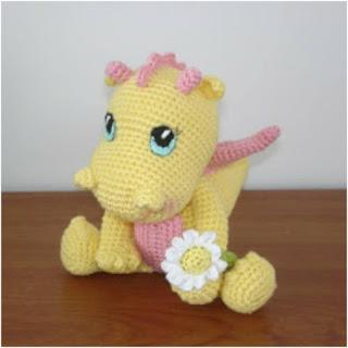 patrón amigurumi Bebé dragon amigurumibb