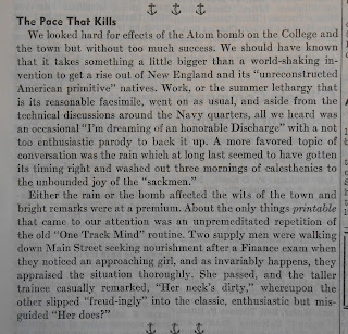 Editorial in Dartmouth Log, August 10, 1945