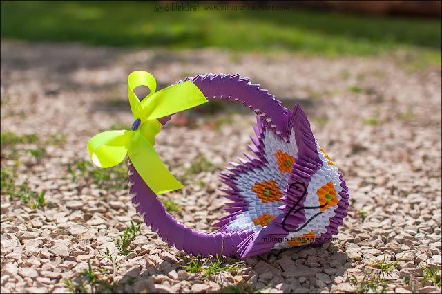 584.Koszyczek z origami / 3d origami basket