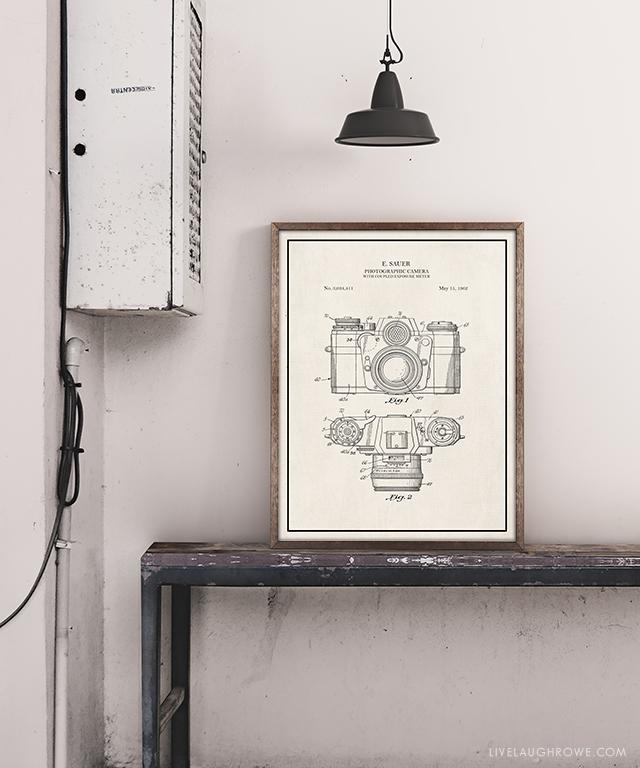 Vintage camera patent art