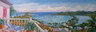 Custom oil painting of St. Barts Island