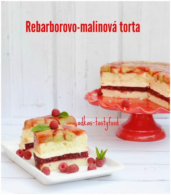 Rebarborovo-malinová  torta