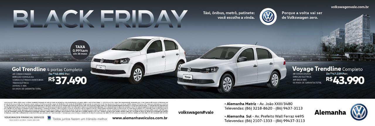 Volkswagen antecipa o Black Friday: nesta sexta, ofertas inéditas nas lojas Alemanha