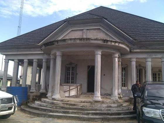 Picture of  Alamiyeseigha Tomb where he was buried