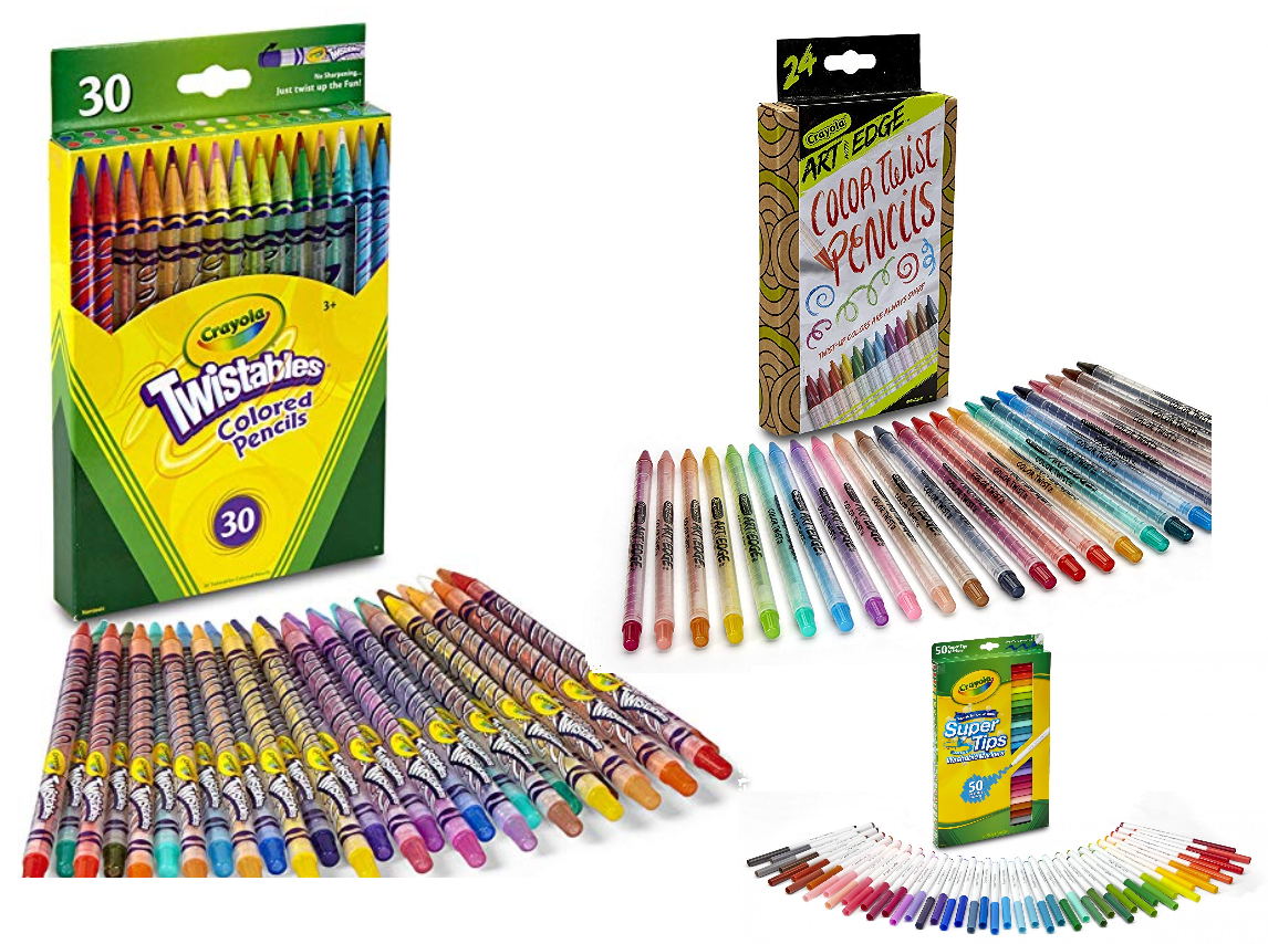 30ct Crayola Twistables Colored Pencil Set 5 97 Free Pickup At Walmart Or Free Shipping With Amazon Prime Also Available 24ct Crayola Art With Edge Color Twist Pencils 7 95 50ct Crayola Super