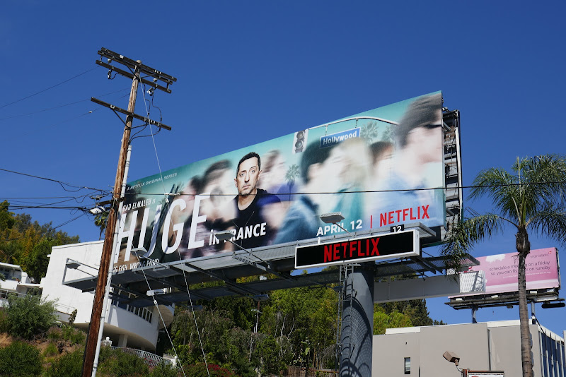 Huge in France series launch billboard