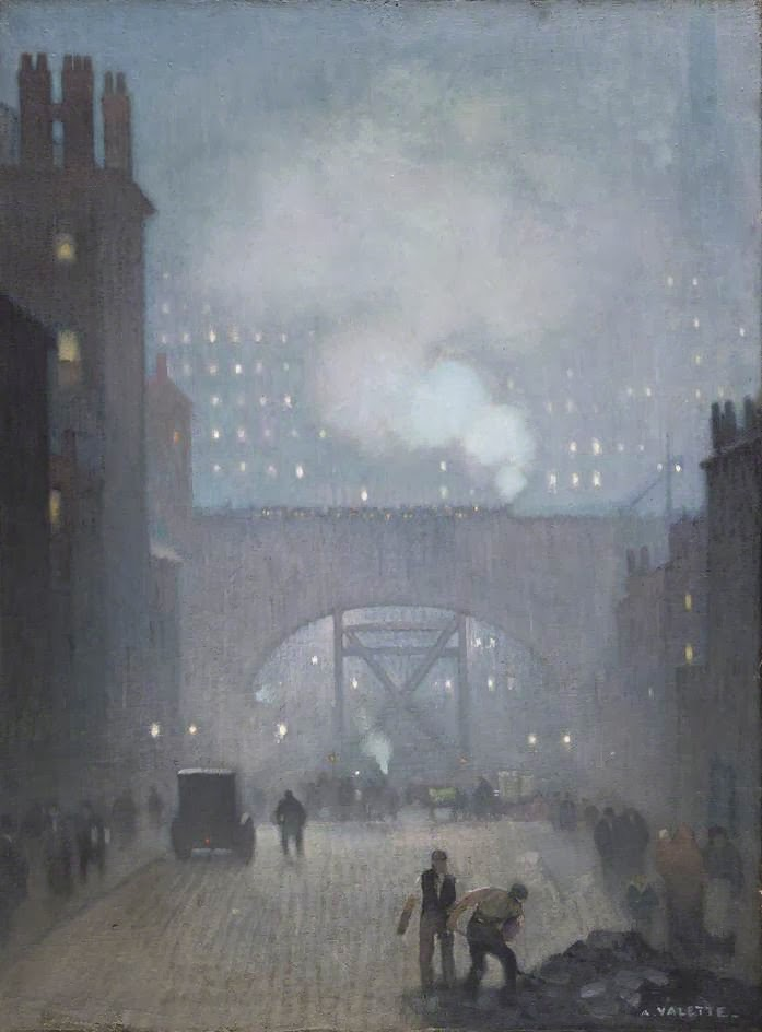 Adolphe  Valette    York  Street  Leading  to  Charles  Street C  Manchester