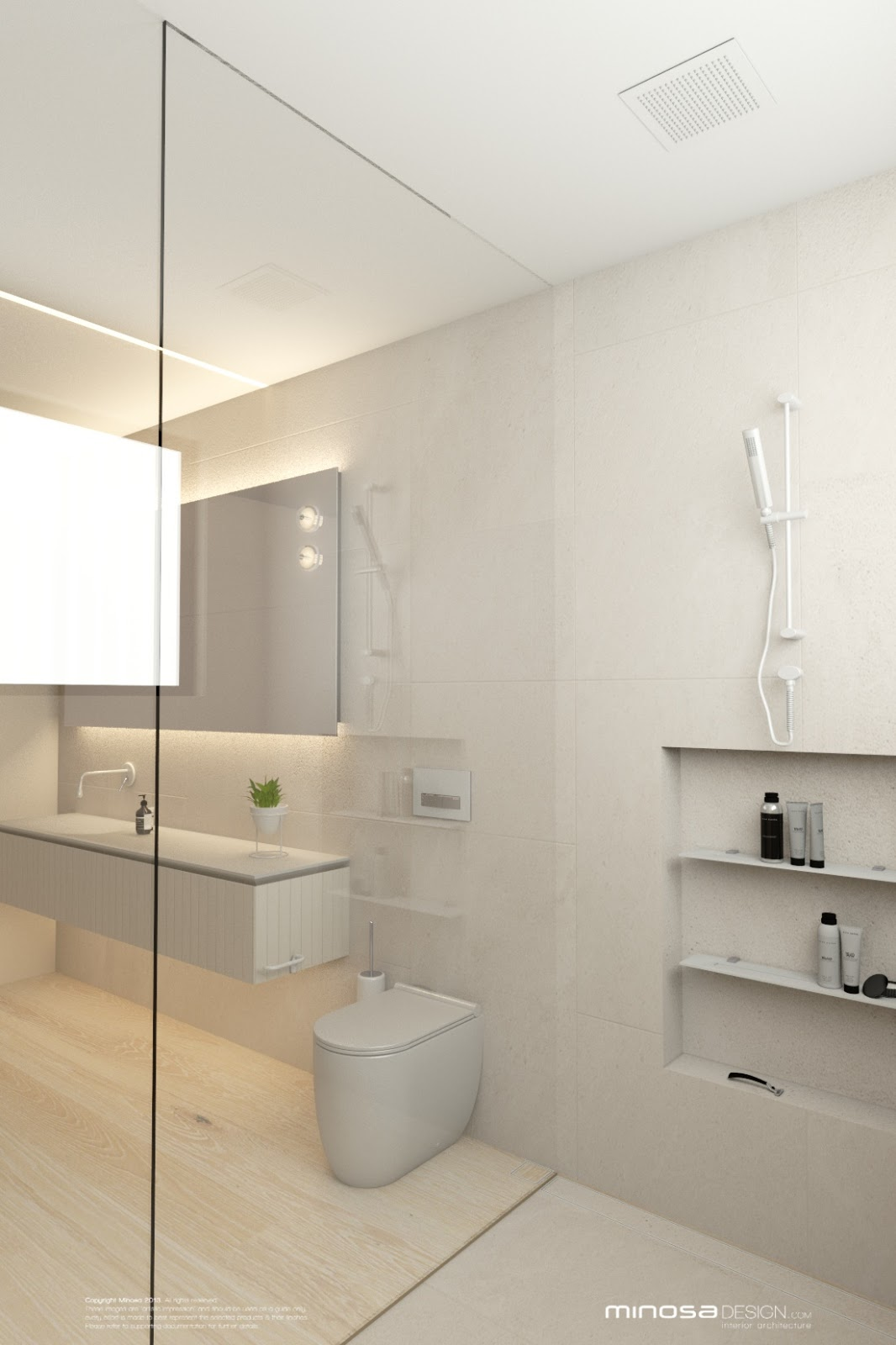 Minosa Bathroom Design  Less is More