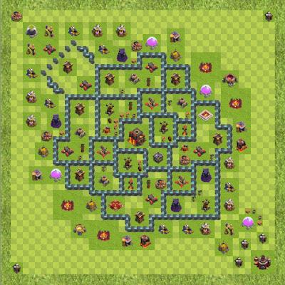 War Base Town Hall Level 10 By COC_CLASHROYALE (WAR TH 10 Layout)