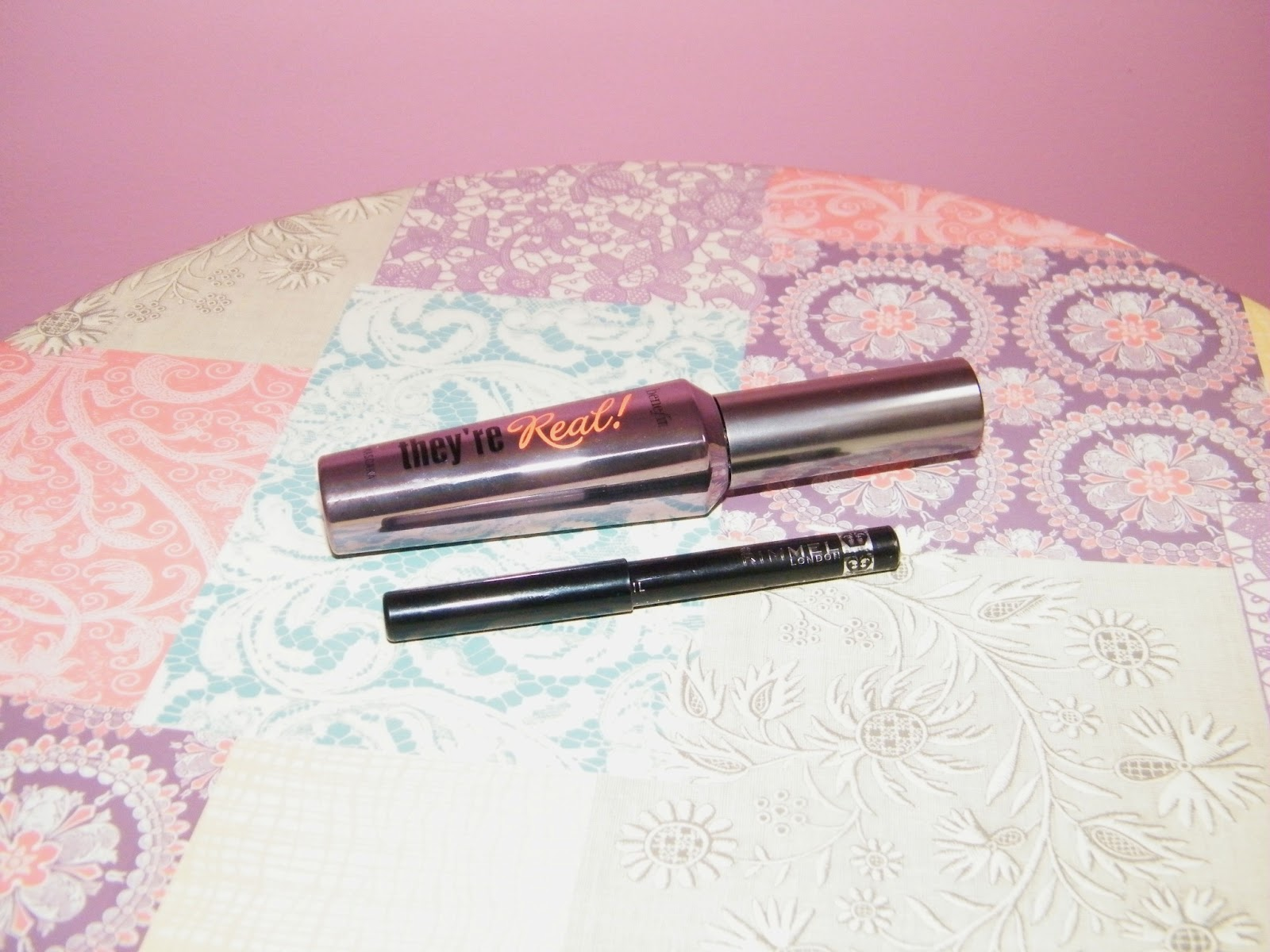 Benefit They're Real Mascara and Rimmel Kohl Eye Liner