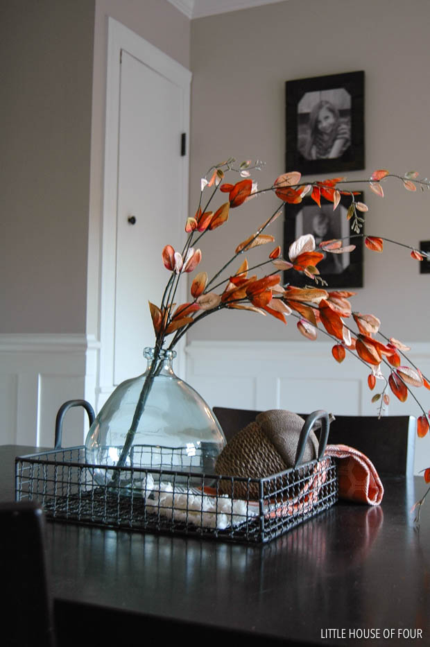 Fall decorated dining table
