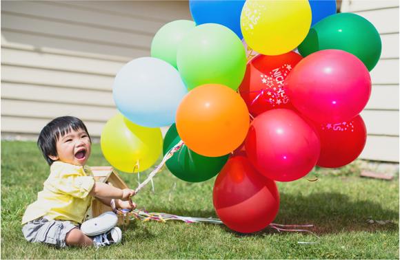 An UP Inspired Balloon 1st Birthday Party - via BirdsParty.com