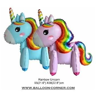 Balon Foil Rainbow Unicorn 3D (Assembled Foil Balloons)