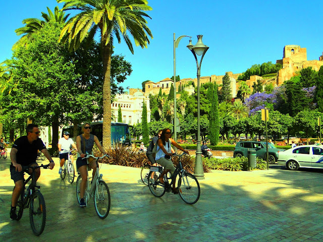 E-bike city tour malaga with Malaga Trips