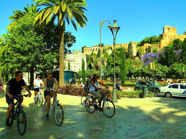E-bike city tour malaga with Malaga Trips