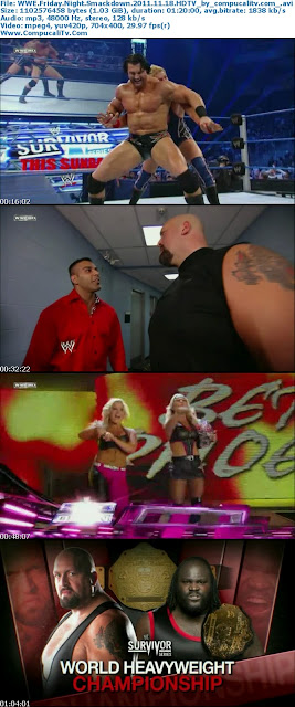 WWE Friday Night Smackdown Noviembre 18 del 2011 HDTV Español Latino Descargar