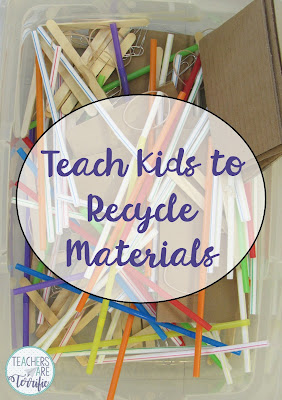 Materials for STEM class are fun and easy and best of all most can be reused! At the end of class I tell kids to sort their unused materials or gently used materials into bins and then I add those things back to our main supply. We reuse everything.