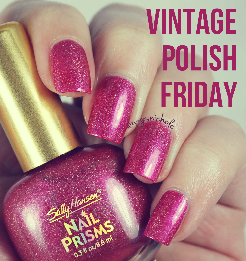 Bedlam Beauty: Vintage Polish: Sally Hansen Nail Prisms in Ruby Diamond