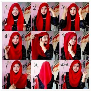 17+ Tutorial Hijab Segi Empat Pesta Pernikahan