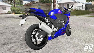 Mod, Moto , Honda CBR1000RR REDBULL para GTA San Andreas, GTA SA