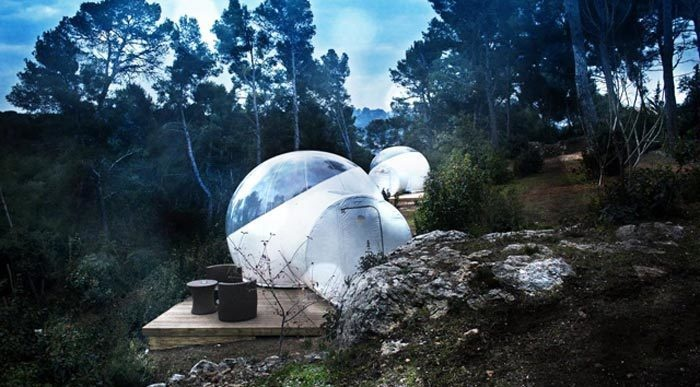 14 Crazy Hotels That Will Give You Serious Travel Goals - The Attrap Reves Hotel in France gives guest the chance to sleep outdoors while being fully protected by a well-designed clear bubble -- in other words, all the views with none of the critters.