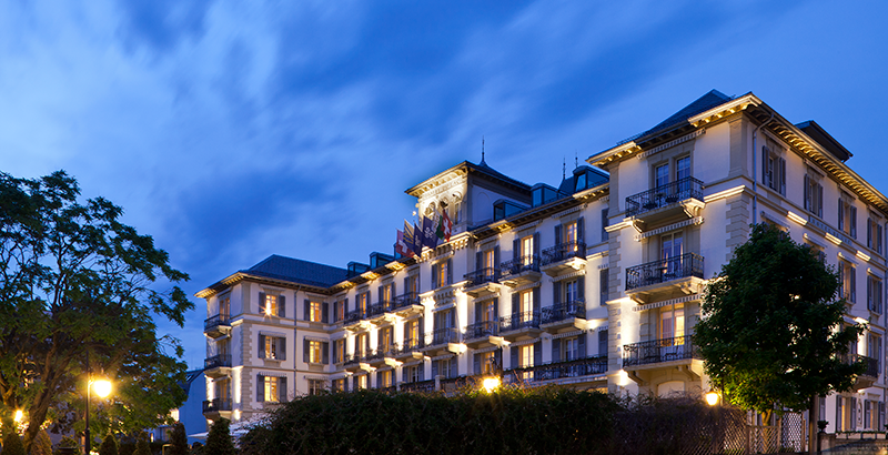 Le Grand Hotel on the lake at Montreux