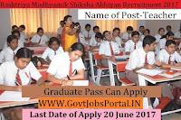 Rashtriya Madhyamik Siksha Abhiyan Recruitment 2017– Graduate Teachers