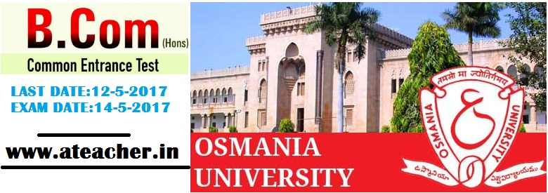 OU Osmania University B.Com (Hons) common Entrance Test 2017