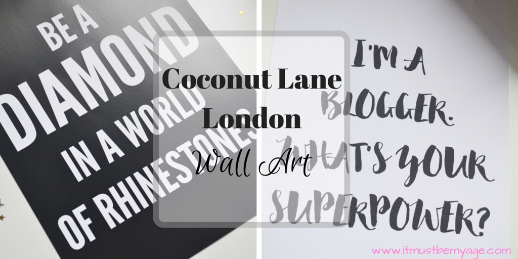 Since becoming a coconut queen for coconut lane london i have loved their products and bought myself a few pieces of wall art to tart up the office wall and