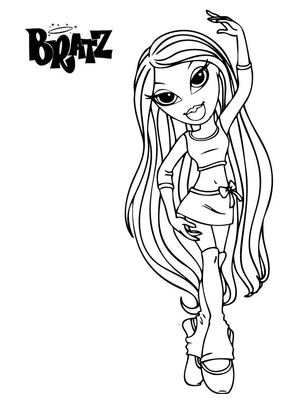 Desenhos Da Boneca Bratz Para Colorir Pintar Imprimir Moldes E
