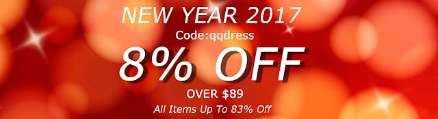QQDress New Year 2017 All Dresses Up To 83% Discount