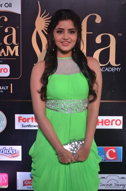 Anupama Parameswaran Stills at IIFA Utsavam Awards 2017