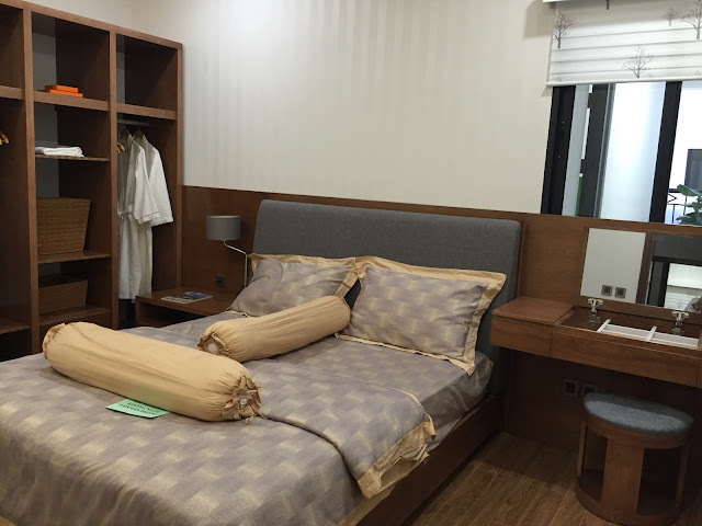 Phòng ngủ Master thiết kế hài hòa, có ảnh sáng tự nhiên