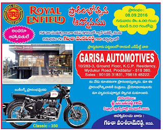 garisa automotives proddatur kdapa