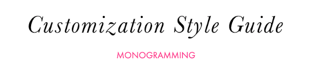 how to customize your monogram products