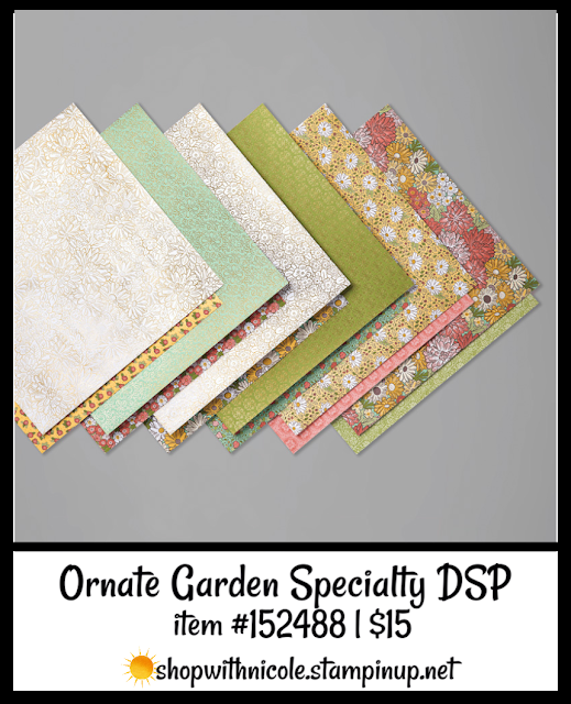 Ornate Garden Specialty Designer Series Paper | item 152488 | $15 | Nicole Steele The Joyful Stamper
