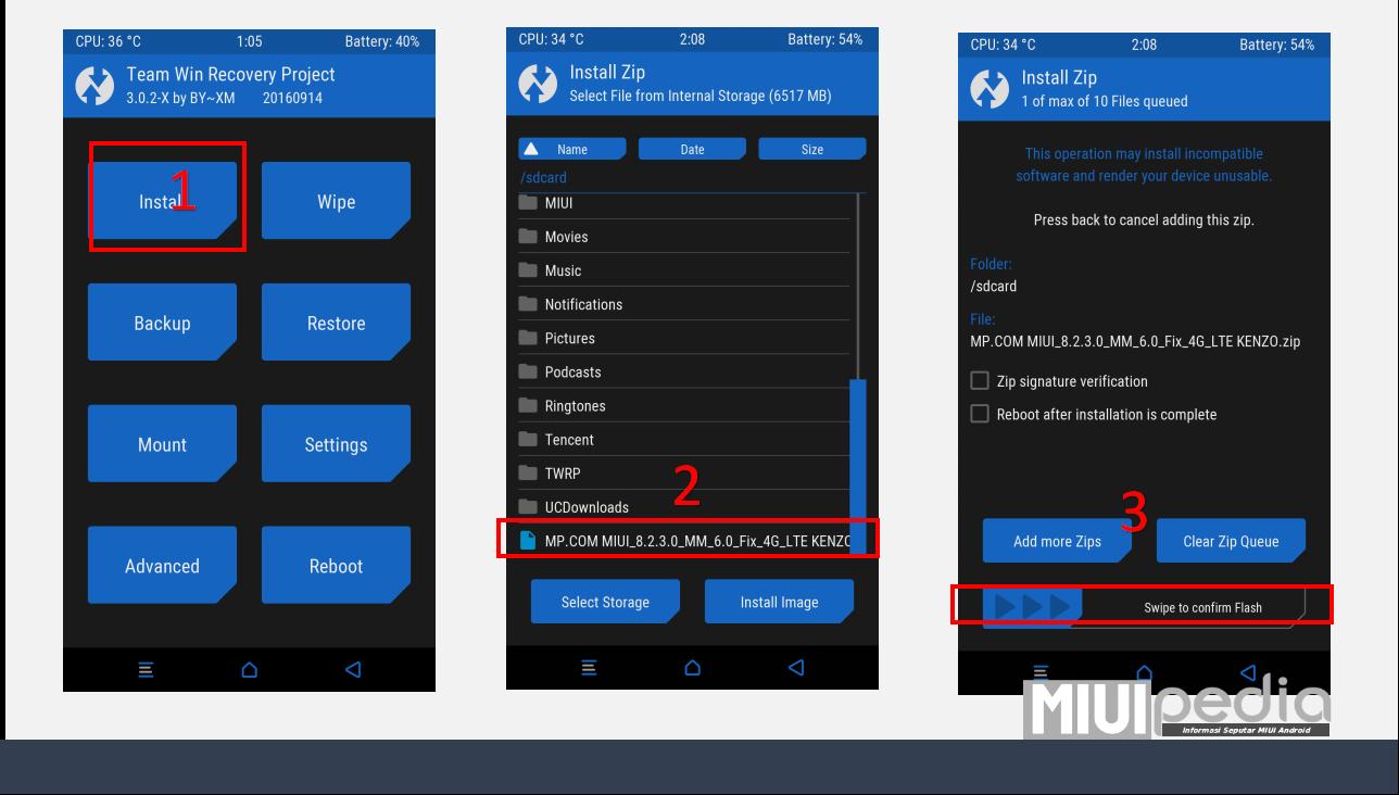 TWRP [Update]  Lagi Fix 4G/LTE MIUI 8.2.3.0 Redmi Note 3 Pro tanpa harus UBL
