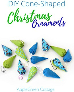 DIY Cone-Shaped Christmas Ornaments