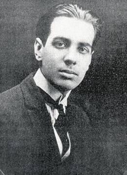 Foto de Jorge Luis Borges con más cabello