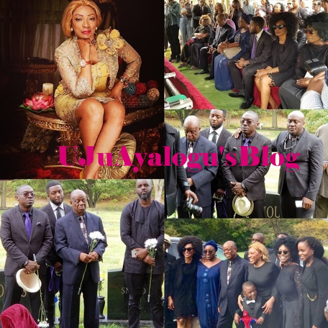 40-year-old Only Child of Former First Lady of Akwa Ibom State Buried Amid Tears (Photos)