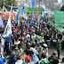 Marcha de la CGT: incidentes entre miembros de Camioneros en Plaza de Mayo