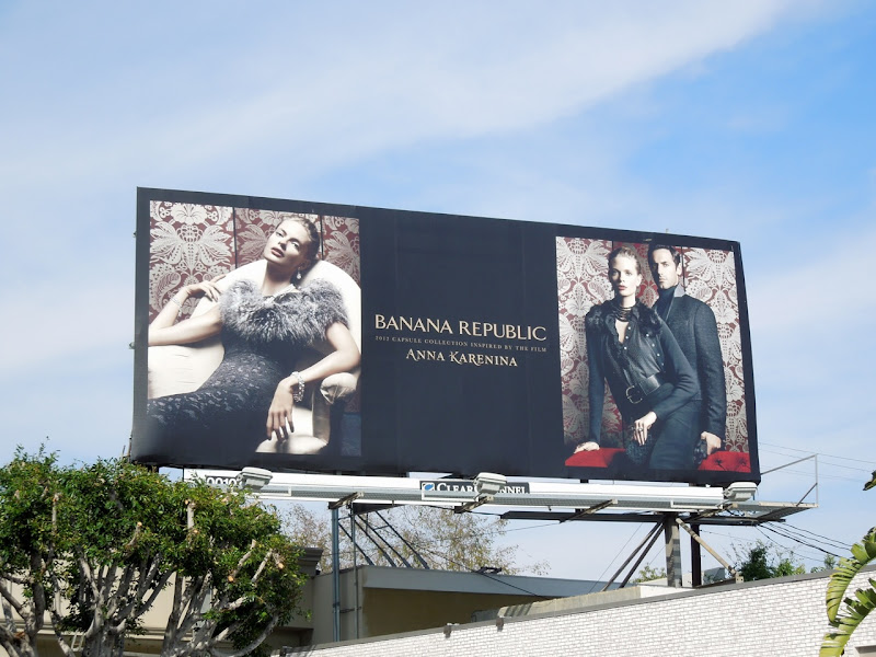 Banana Republic Anna Karenina fashion billboard