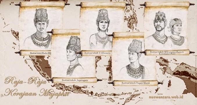 Daftar raja-raja Majapahit dari awal kepemimpinan Raden Wijaya hingga raja terahir