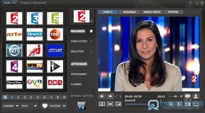 adsl tv fm 2013 le meilleur logiciel gratuit pour regarder et enregistrer la tv sur son. Black Bedroom Furniture Sets. Home Design Ideas